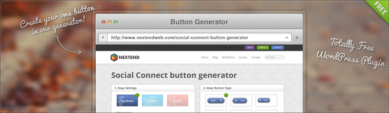 Social Connect Plugin's Button Generator